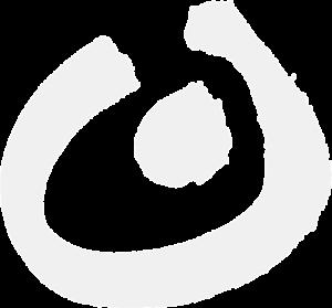 Kringel des Logos in grau
