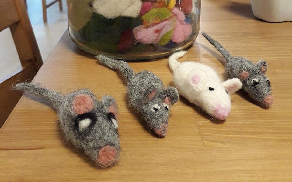 gefilzte Mäuse
